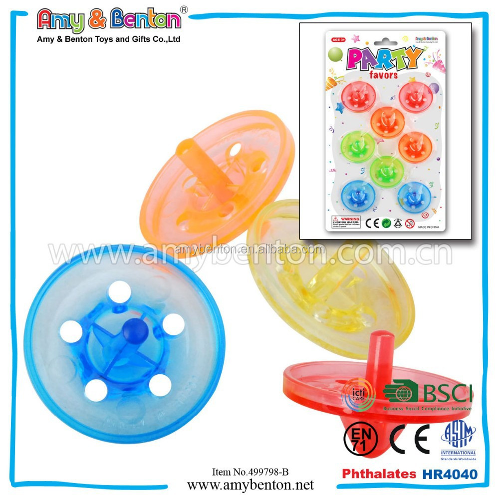New Plastic Spinning Top Promotional Toys For Kids