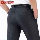KKKNOW new men's casual trousers middle-aged and elderly spring and summer thin waist trousers men's trousers