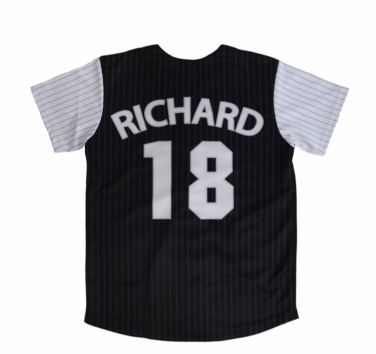 Directly factory sale high quality women striped baseball jersey