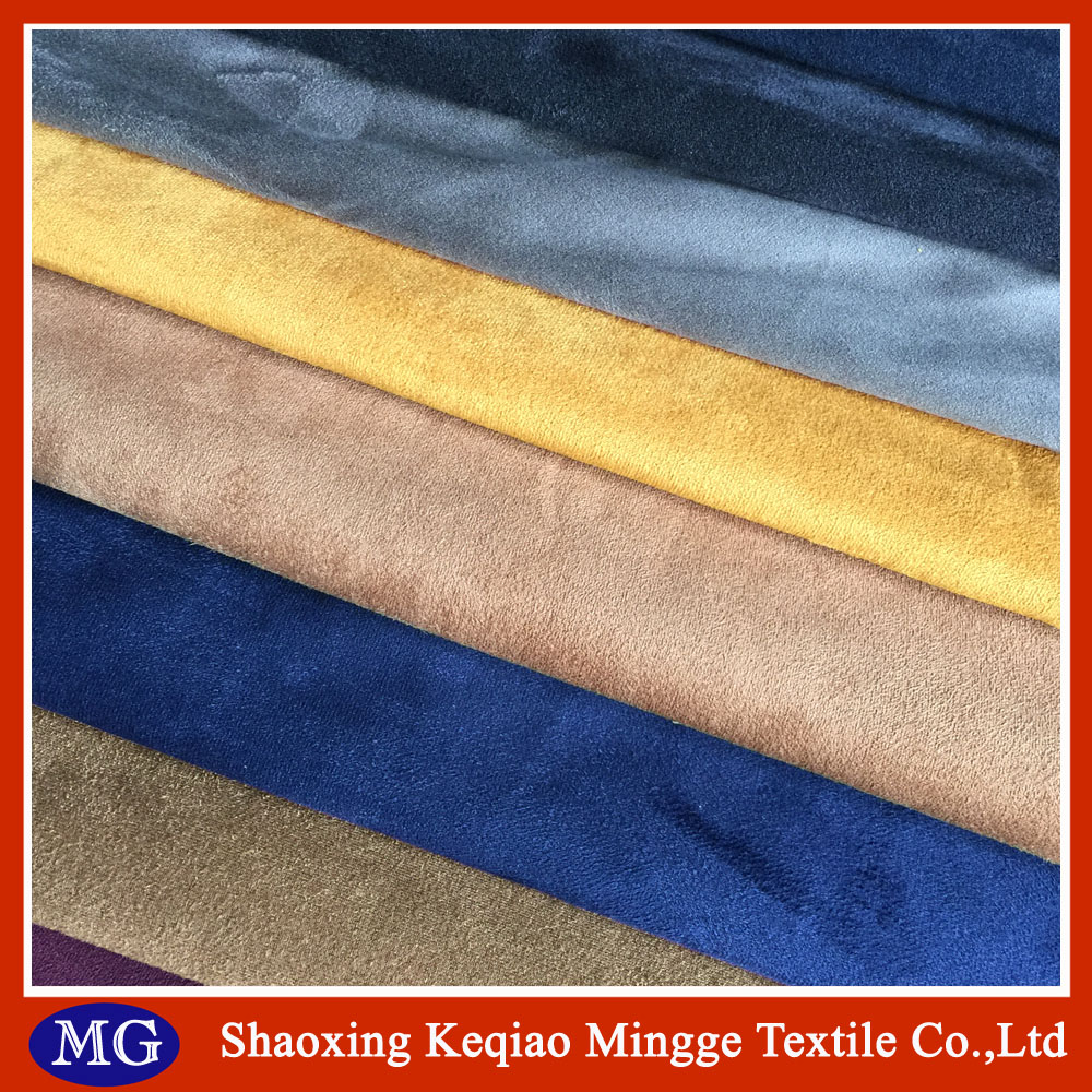 hot sale polyester suede knit fabric