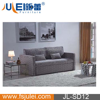 three seater fabric fold out reclining sofa bed JL-SD12