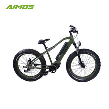 2017 full suspension mid drive bafang motor 350w fat tire mountain electric bike
