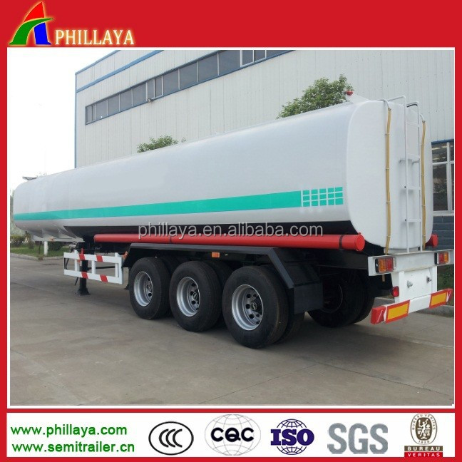 Double Hull Oil Tanker / fuel trailer semi trailer Volume Optional