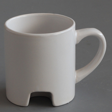 unique shaped 11oz ceramic coffee mug