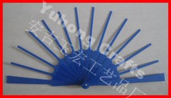 Colorful plastic frame folding fan ribs