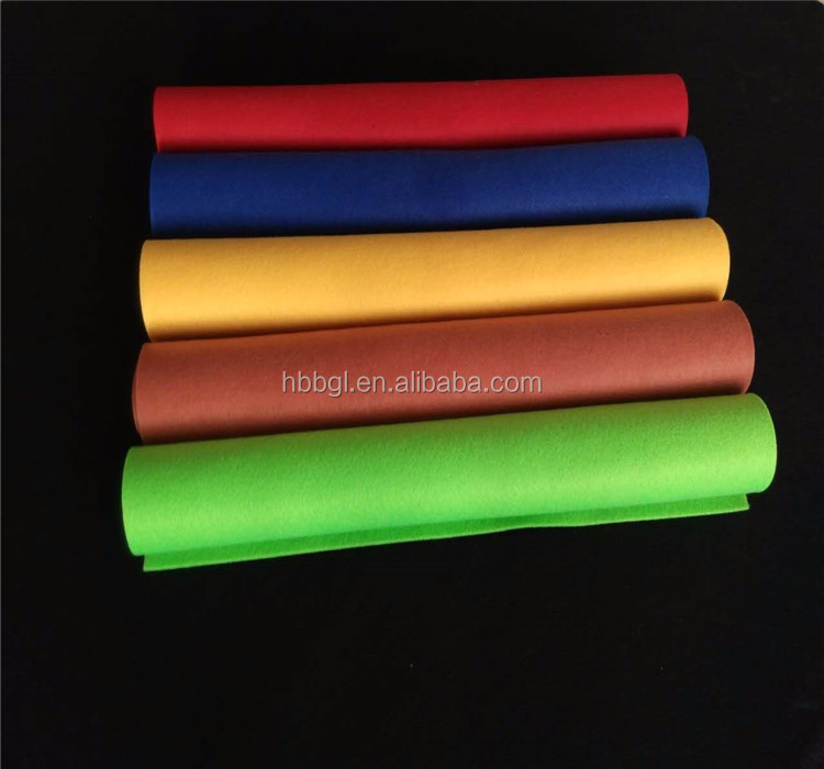 Wholesale different colorful and price Non Woven Fabric/100% Polyester Fabric /100% wool color felt