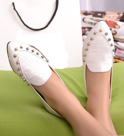 hot selling women flat shoes 2013 fashion women PU flat shoes