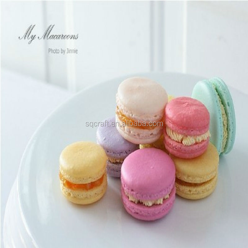 Wholesale artificial mini macaron squishy fake food for party decoration