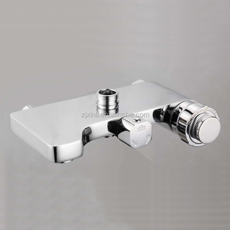 X9207BS Fashion Chrome Finish and Wall Mounted Brass Thermostatic Shower Mixer