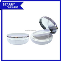 BK05 Korea 15g round empty plastic cosmetic air cushion case wet compact powder case for bb/cc cream/foundation with mirror