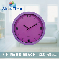 Round shaped photo frame floor standing wall clock