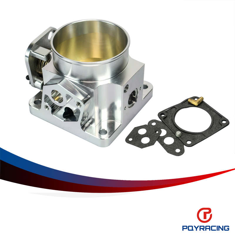 PQY RACING-75MM BILLET CNC THROTTLE BODY FOR 86-93 FORD MUSTANG GT COBRA LX 5.0 PQY6958S