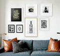 Black and White Geometric Shapes Abstract Maze Art Print Poster Canvas Painting Modern office Home Deco