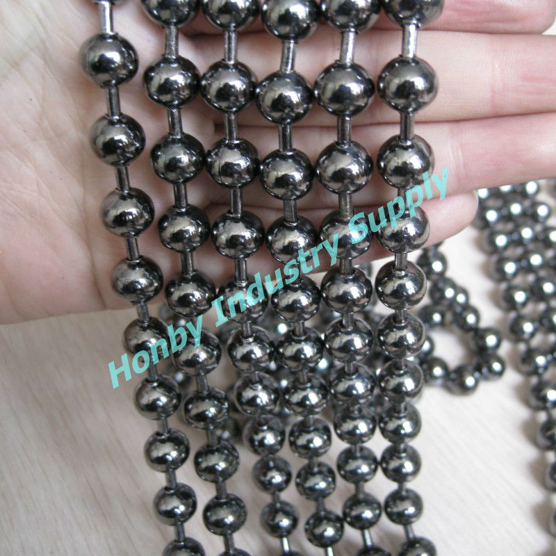 Customizable Gun Metal Color 10mm Metal Ball Chain