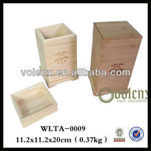 Disposable Bamboo Knitting Box with Custom Laser Logo and High Quality (SGS&BV)