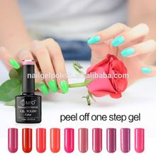 New Fashion nail arts cosmetics wholesale cheap high quality colorful color easy peel off uv gel nail gel polish
