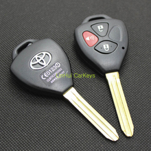 Blank New 2+1 Panic Buttons Transponder Chip Key Shell for Toyota Camry Remote Key With Logo