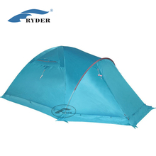 Waterproof Fireproof Cold Weather Winter Outdoor 4 Season Big Dome 4 Person Large Camping Tent Family