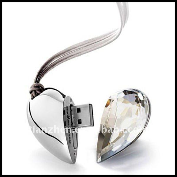 2012 business gift Heart shape usb as promotional etal gift