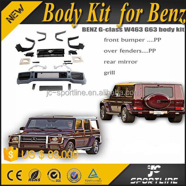 PP Material G class w463 Wide Body kit for B enz G63 2008