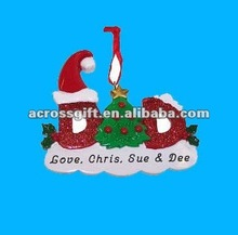 Classic resin christmas gift ornaments
