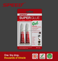 2PC Super glue gel in card pack super glue