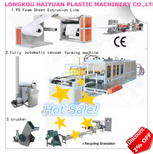 Hot Sale! PS foam fast food box/container/plate production line