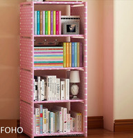 Bookcase single shelf cubby small plastic storage shelf