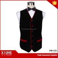 Fashionable velvet fabiic body warmer vest men