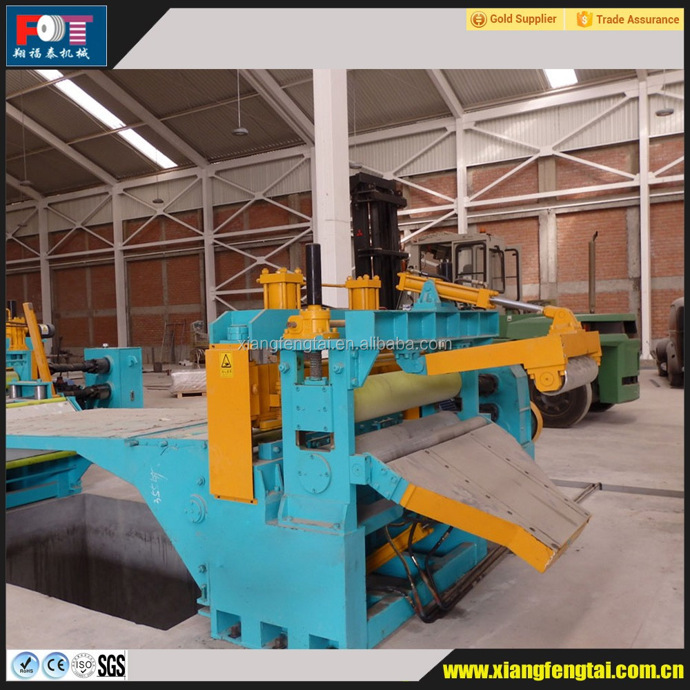 Rotary shear slitting line for aluminium coil