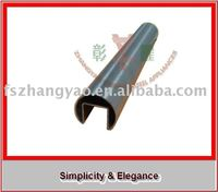 stainless steel banister slotted grooved tube