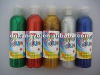 2015 hot sale 90ml glitter glue in bottle pass EN71 ASTM F963
