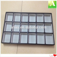 PS cosmetic vacuum formed plastic flocking tray