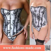 Hot Women Sex Black & White Corset