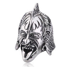 Gene Simmons Kiss Men's Punk Rings High Quality Stainless Steel Jewelry