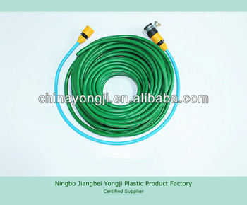 high quality 5/8'' PVC garden water hose pipe/ braided fiber hose