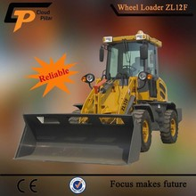 China Made Articulated zl12 Loader with V Push Skis Blades