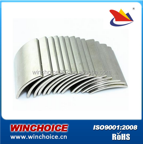 High Powered Sintered Neodymium Segment Magnet N50 Ni Coated