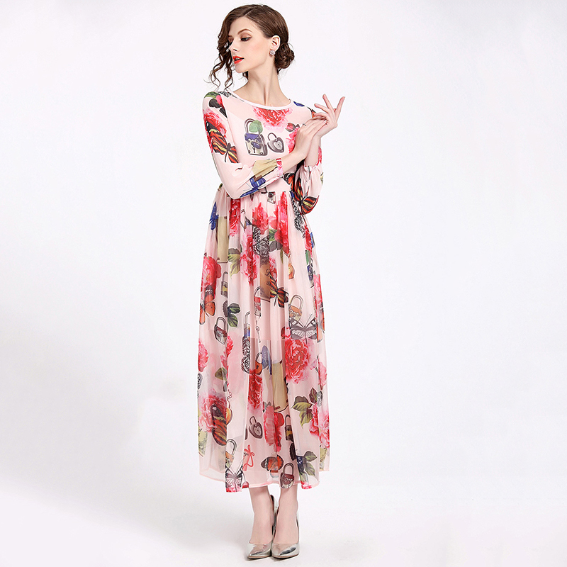 western long beautiful Chiffon dress for women