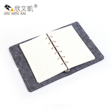 Trading Company Wholesale Business Stationery Custom Logo Felt Paper Dairy Notebooks