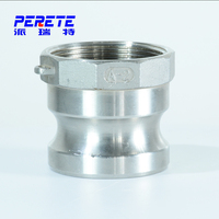 Stainless Steel Flexible Hose Coupler / Camlock Type Quick Connect Coupling Type A Part