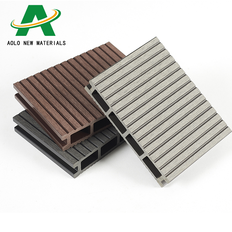 Manufacturer supply eco-friendly wood composite WPC decking board hollow <strong>flooring</strong> outdoor products