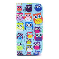 For Nexus 5 flip wallet leather case owl pattern phone cases