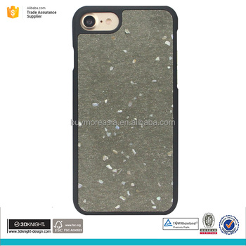 Ecology technology concrete mix cement with seashell fragment cell phone case for iphone