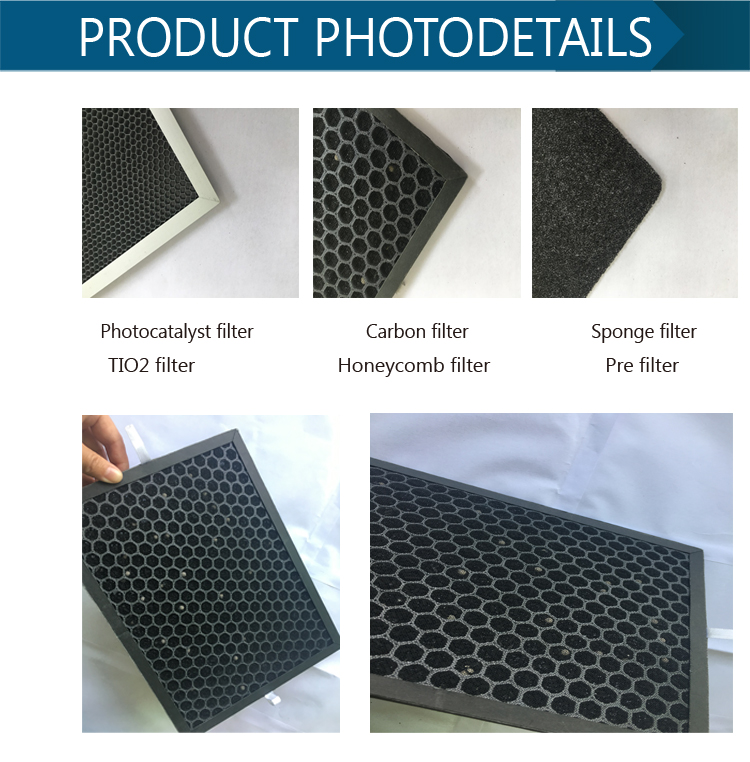 Hot sales competitive price aluminum frame panel air purifier filter filter tio2 filter for air cleaner manufacturer