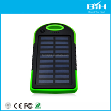 Waterproof solar charger mobile phone usb camping solar power bank