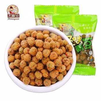Wholesale chinese Food 300g Spicy coated Green Peas Sanck With OEM&ODM Bag