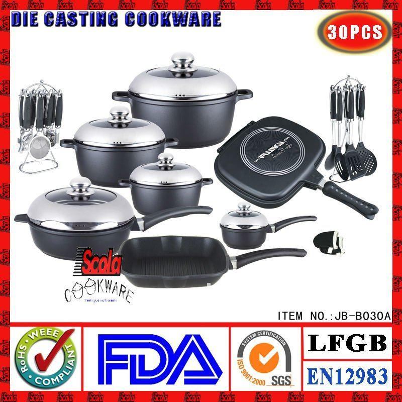 Fundici n de aluminio antiadherente utensilios de cocina for Utensilios de cocina de ceramica