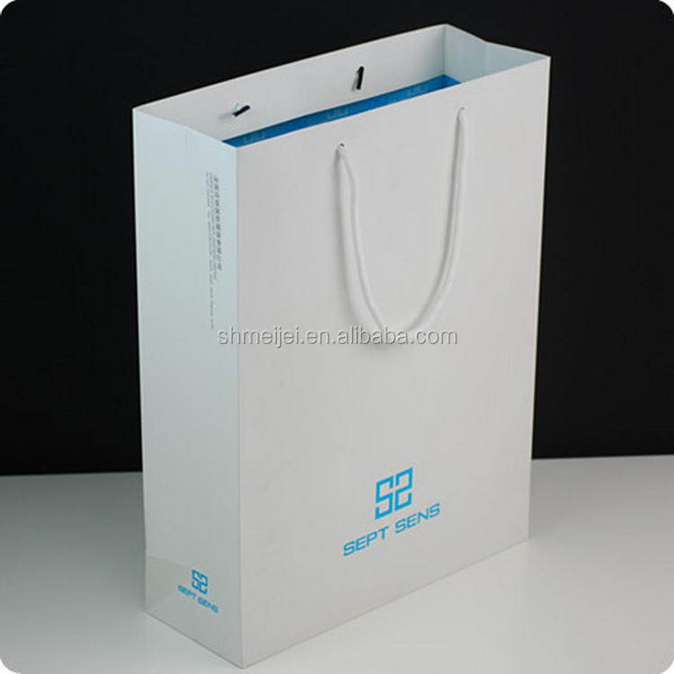 China manufacture hot sale promotion screen printing paper shopping bag