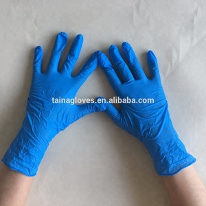 blue/black/white/purple color disposable cheap non sterile nitrile exam gloves